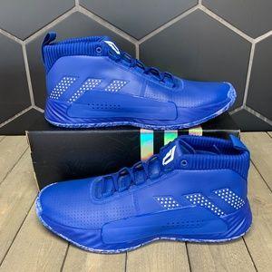 New Adidas SM Dame 5 Team Royal Blue Shoe Sz 15